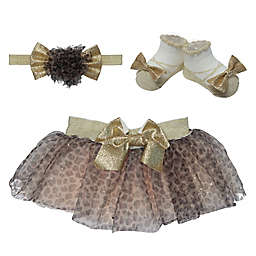 Elly & Emmy Size 0-12M 2-Piece Leopard Tutu and Headwrap Set