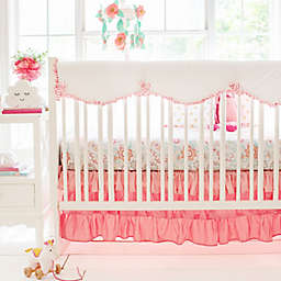 My Baby Sam Boho 8-Piece Crib Bedding Set in Coral/White