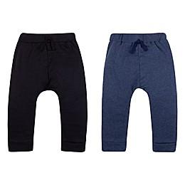 Lamaze® 2-Pack Organic Cotton Knit Pants in Black/Blue