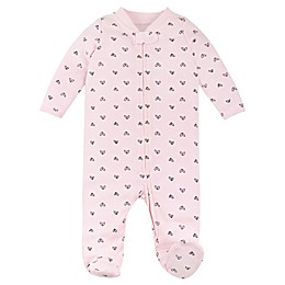 Lamaze® Hearts Organic Cotton Thermal Footie in Pink