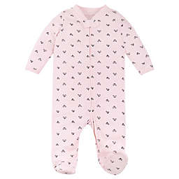 Lamaze® Size 9M Hearts Organic Cotton Thermal Footie in Pink