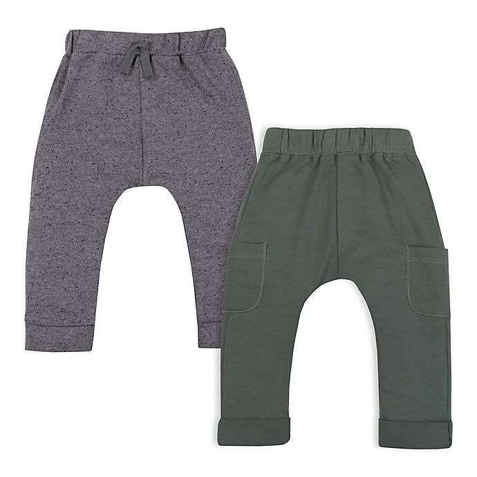 Alternate image 1 for Lamaze® 2-Pack Organic Cotton Joggers in Grey