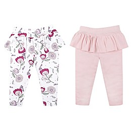 Lamaze® 2-Pack Pink and Floral Organic Cotton Pants