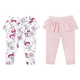 Lamaze® Size 6M 2-Pack Pink and Floral Organic Cotton Pants