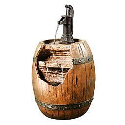 Peaktop Vintage Pump & Barrel Indoor/Outdoor Waterfall Fountain