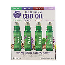 SpaRoom® 4-Pack 6 mL Topical CBD Essential Oil Roll-Ons