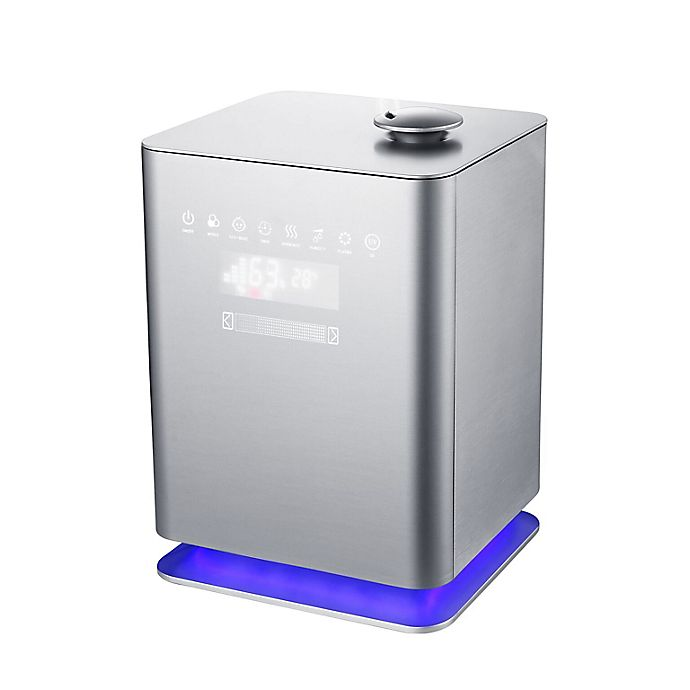 Alternate image 1 for Crane 1.2-Gallon Premium Top Fill Cool Mist Humidifier in Metallic