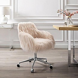 Linon Home Fiona Faux Fur Office Chair