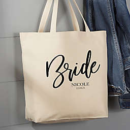 Classic Elegance Bridal Party 20-Inch Cotton Canvas Tote Bag