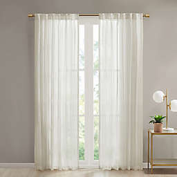 Devon Rod Pocket/Back Tab Sheer Window Curtain Panel