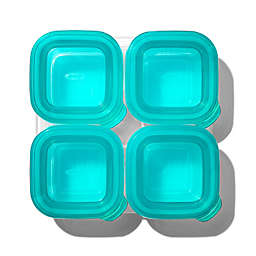 OXO Tot® 4-Pack 4 oz. Silicone Baby Food Storage Blocks in Teal