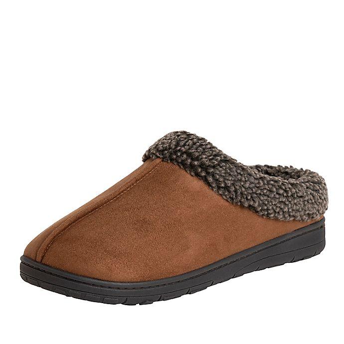 Alternate image 1 for Men's Microsuede Clog Slippers