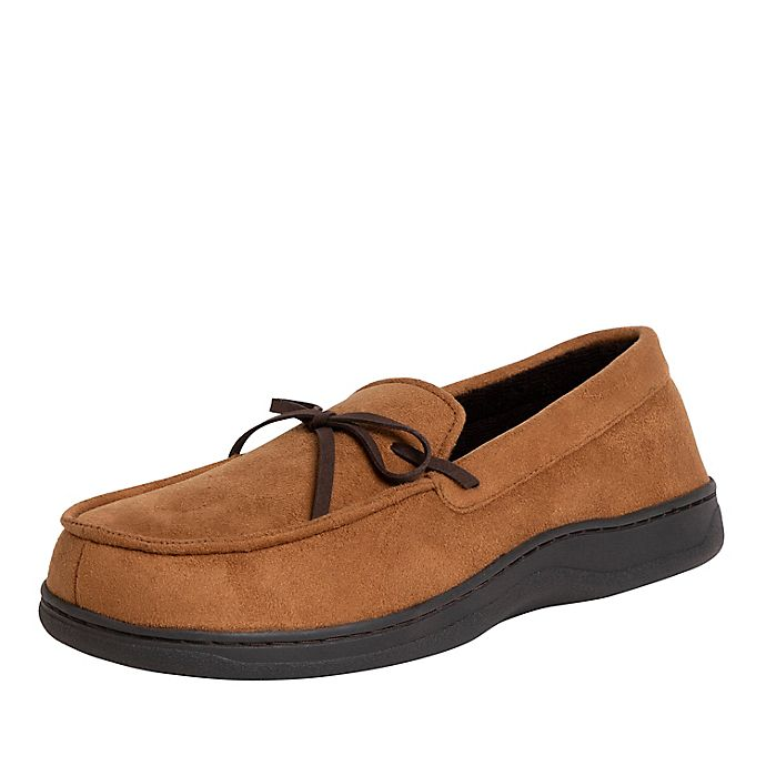 Alternate image 1 for Cozy Mountain Men's Microsuede Moccasins