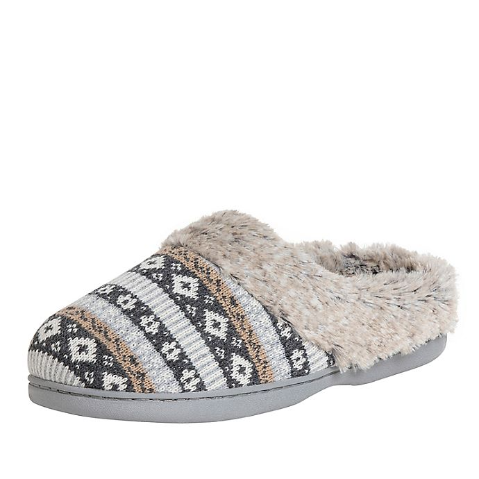 Alternate image 1 for Fair Isle Women's Clog Slippers