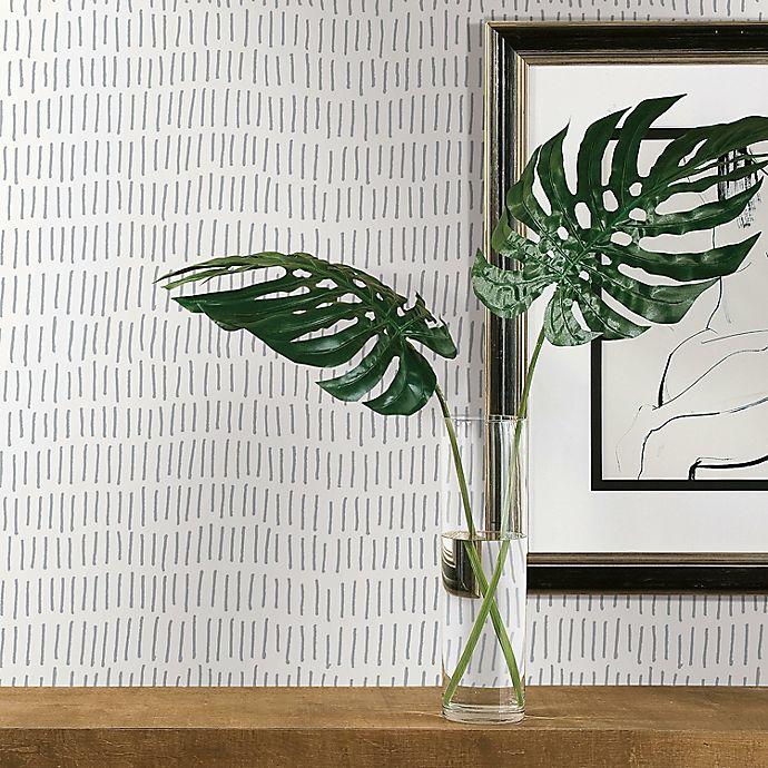 Alternate image 1 for RoomMates® Tick Mark Peel & Stick Wallpaper in Grey