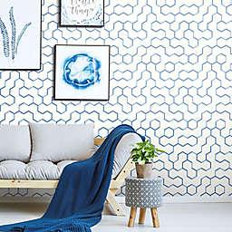 RoomMates® Open Geometric Peel & Stick Wallpaper in Blue
