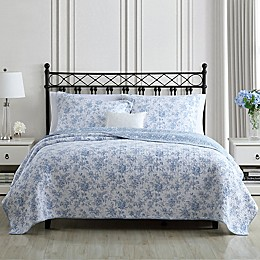 Laura Ashley® Walled Garden 3-Piece Reversible Quilt Set
