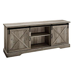 Forest Gate 70-Inch Barn Door TV Stand with 3 Adjustable Shelves