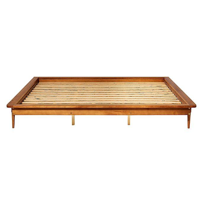 Alternate image 1 for Forest Gate™ Diana King Solid Wood Platform Bed in Caramel