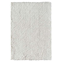 CosmoLiving Everly Shag Area Rug in White Dove