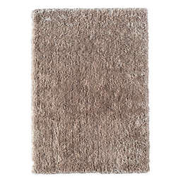 CosmoLiving Everly Shag Area Rug in Timberwolf Grey
