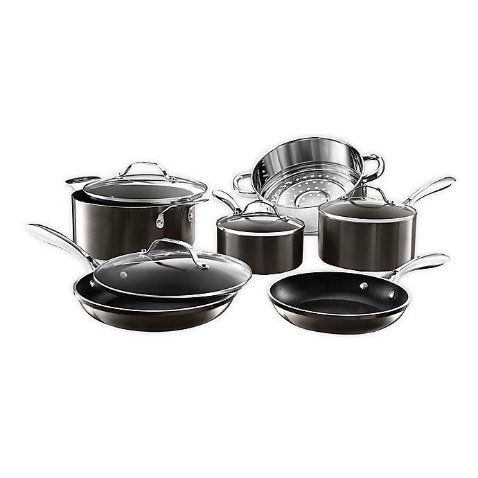Alternate image 1 for Gotham™ Steel Diamond Platinum Nonstick Cast Aluminum 10-Piece Cookware Set
