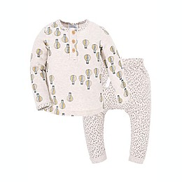 Kidding Around 2-Piece Air Balloon Henley and Pant Set in Oatmeal