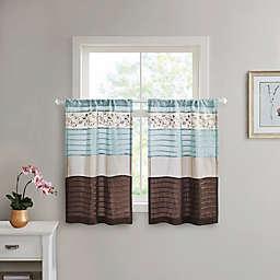 Madison Park Serene Window Curtain Tier Pair