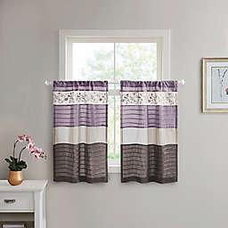 Madison Park Serene Window Curtain Tier Pair in Purple