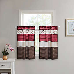 Madison Park Serene Window Curtain Tier Pair in Red