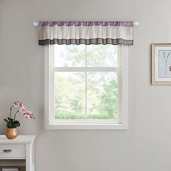 Alternate image 1 for Serene Floral Window Valance in Purple