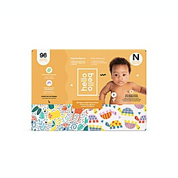 Hello Bello Newborn Monkeys and Turtles 96-Count Disposable Diapers in Orange