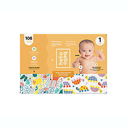 Hello Bello™ 108-Count Size 1 Monkeys and Turtles Disposable Diapers in Orange