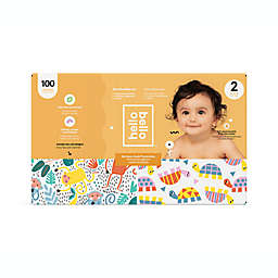 Hello Bello™ 100-Count Size 2 Monkeys and Turtles Disposable Diapers in Orange