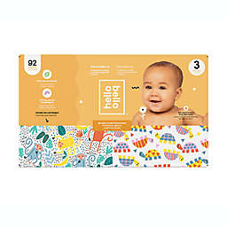 Hello Bello™ 92-Count Size 3 Monkeys and Turtles Disposable Diapers in Orange