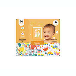 Hello Bello™ 74-Count Size 4 Monkeys and Turtles Disposable Diapers in Orange