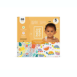 Hello Bello™ 66-Count Size 5 Monkeys and Turtles Disposable Diapers in Orange