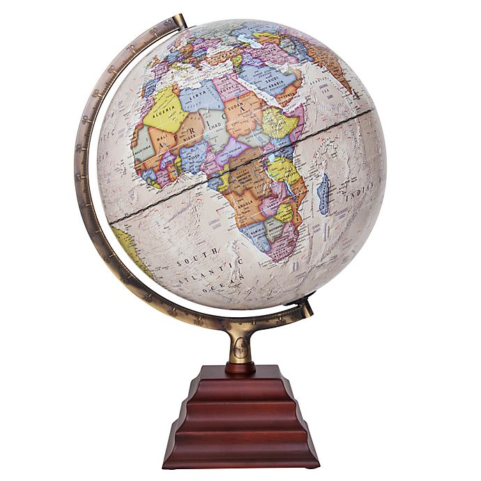 Alternate image 1 for Peninsula Decorative Desk Globe in White