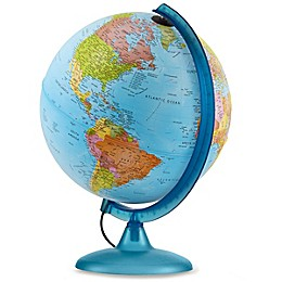 Earth & Sky 2-In-1 Exploration Illuminated Globe in Ocean Blue