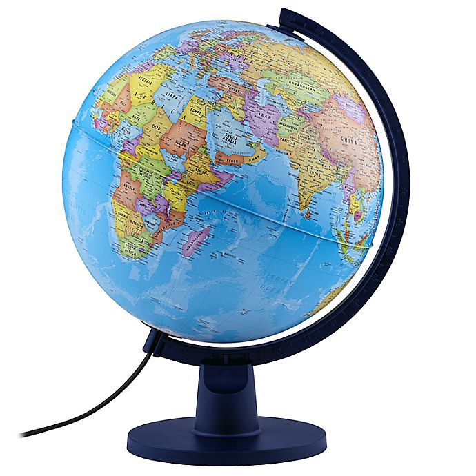 Alternate image 1 for Scout II Educational Illuminated Globe in Blue