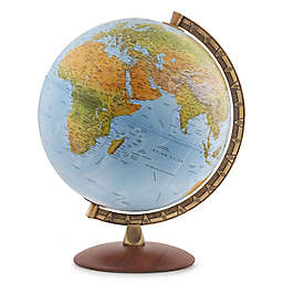 Waypoint Geographic Lugano Illuminated Desk Globe in Ocean Blue