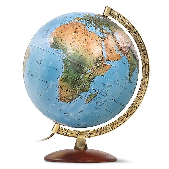 Alternate image 1 for Primus Raised Relief Illuminated Desk Globe in Blue