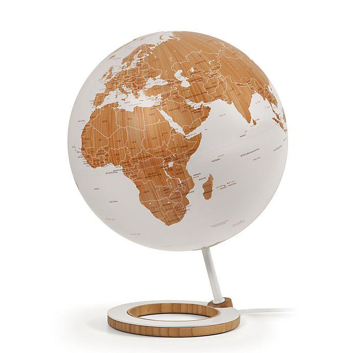 Alternate image 1 for Lighted Decorative Desk Globe in White