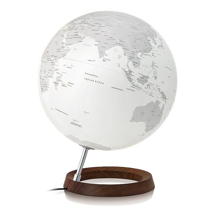 Alternate image 1 for Full Circle Reflection Lighted Decorative Desk Globe in Silver
