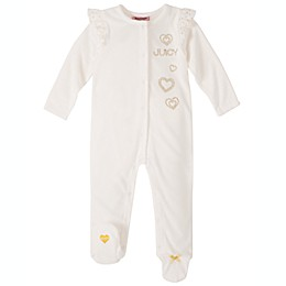 Juicy Couture® Velour Footed Coverall