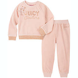 Juicy Couture® 2-Piece Bow Shoulder Shirt and Pant Set in Blush