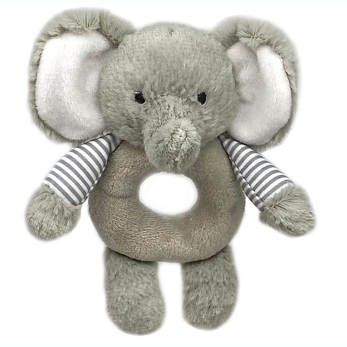 Alternate image 1 for carter's® Elephant Ring Rattle in Grey
