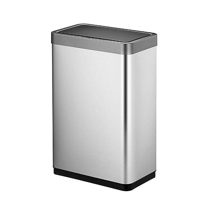 Alternate image 1 for Eko® Mirage-X Stainless Steel 45-Liter Motion Sensor Trash Can