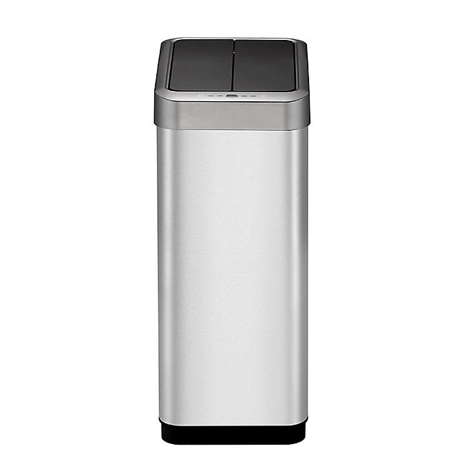Alternate image 1 for Eko® Phantom-X Stainless Steel 45-Liter Motion Sensor Trash Can