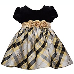 Bonnie Baby Gold Plaid Taffeta Dress